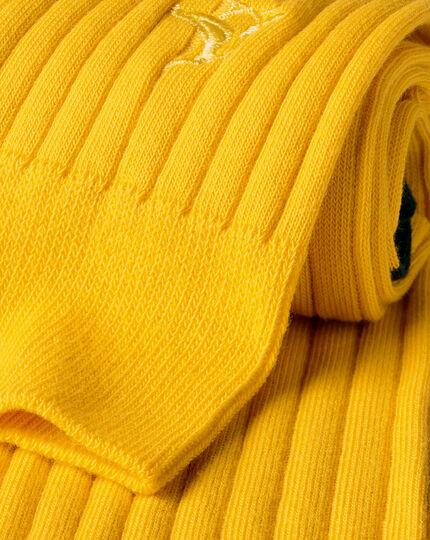 Cotton Rib Socks - Sunflower