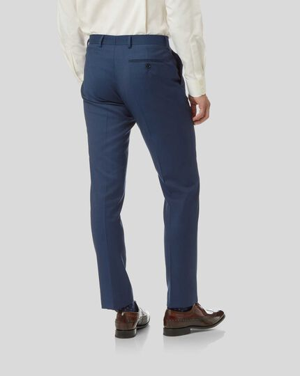 Twill Business Suit Pants - French Blue