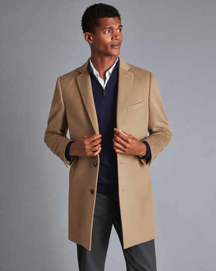 Mantel aus Wolle - Camel