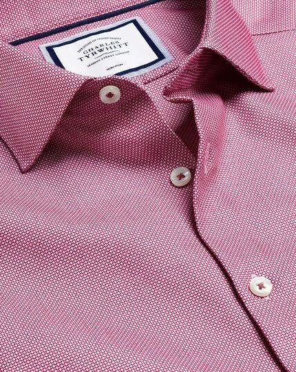 Bügelfreies Hemd mit Business-Casual-Kragen und Stretch - Rot