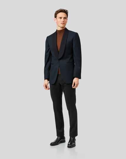 Shawl Collar Dinner Suit - Teal