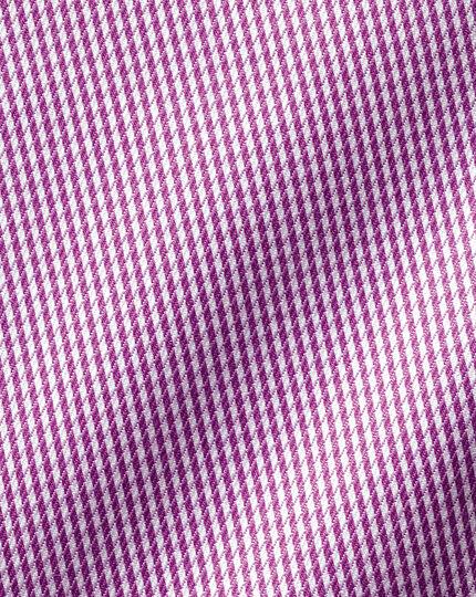 Non-Iron Twill Puppytooth Shirt - Purple