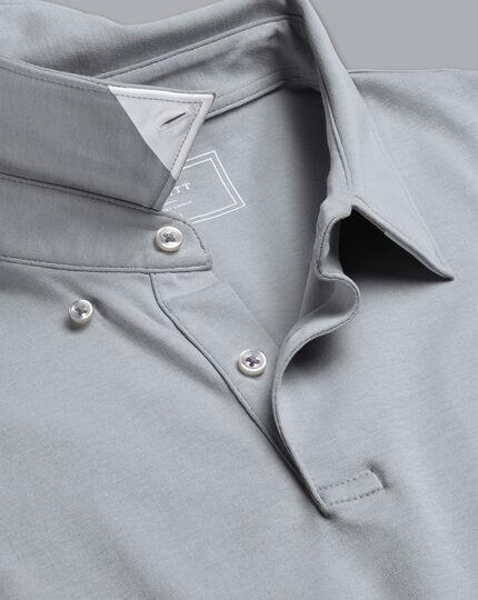 Smartes Jersey-Polo - Silber