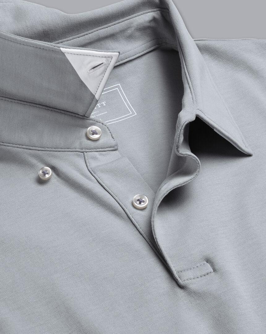 Smart Jersey Polo - Silver