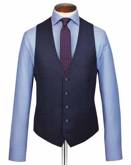 Navy adjustable fit jaspé business suit vest