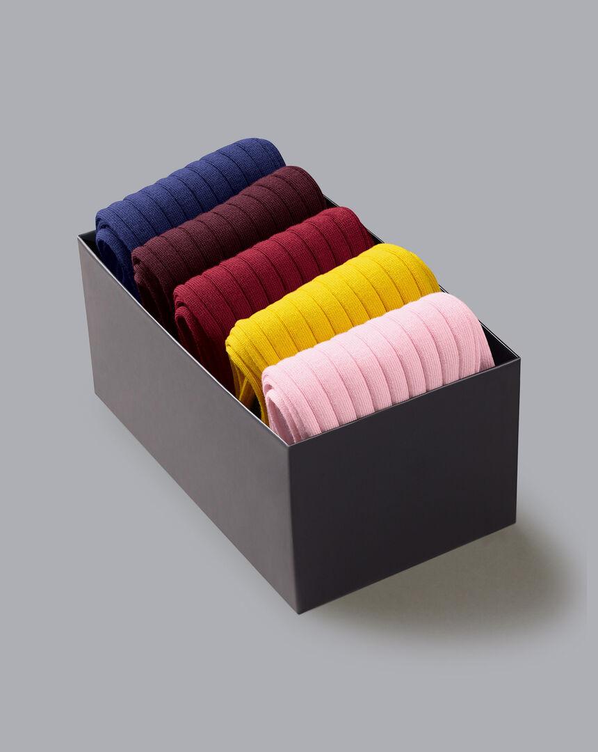 Cotton Rib Sock Gift Box - Multi