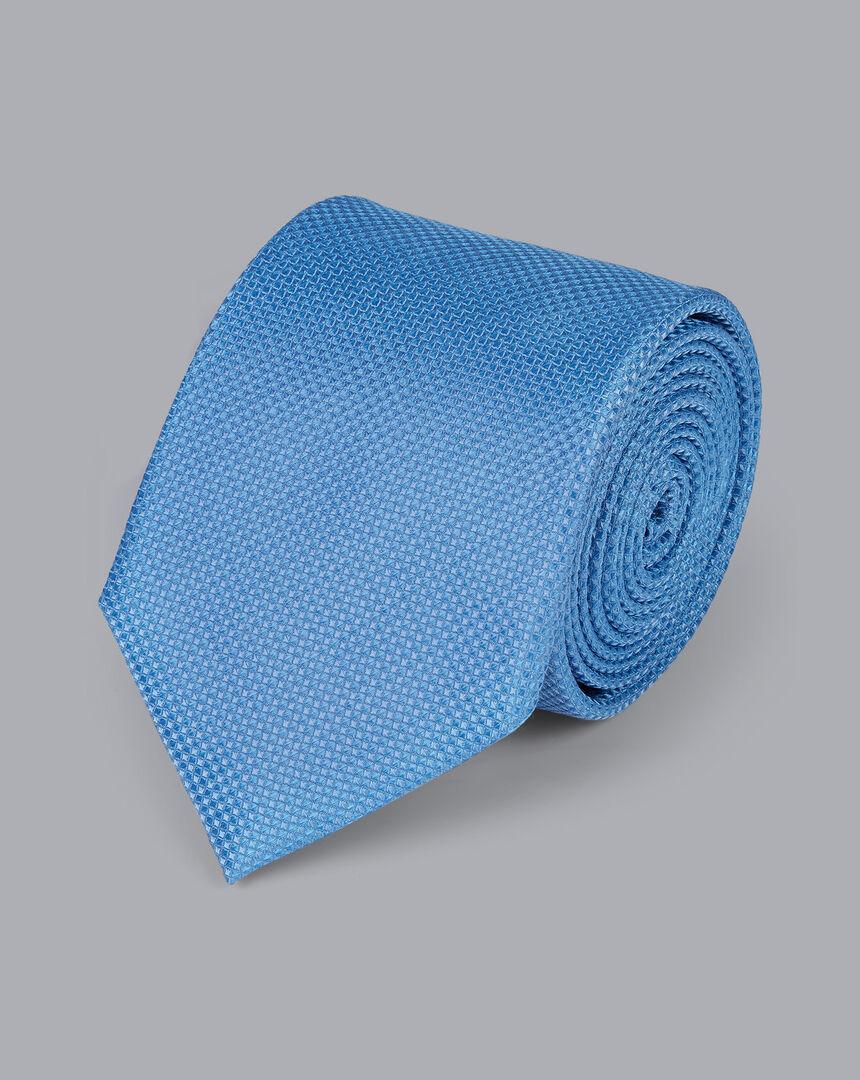 Stain Resistant Silk Textured Tie - Sky
