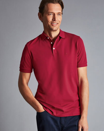 Tyrwhitt Pique Polo - Red