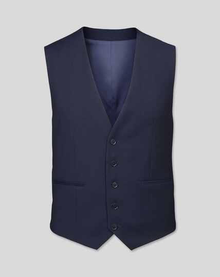 Business Suit Textured Vest - Navy