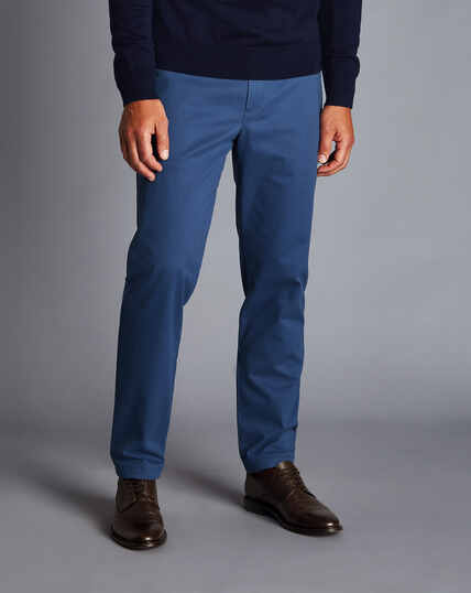 Ultimate Non-Iron Chinos - Mid Blue