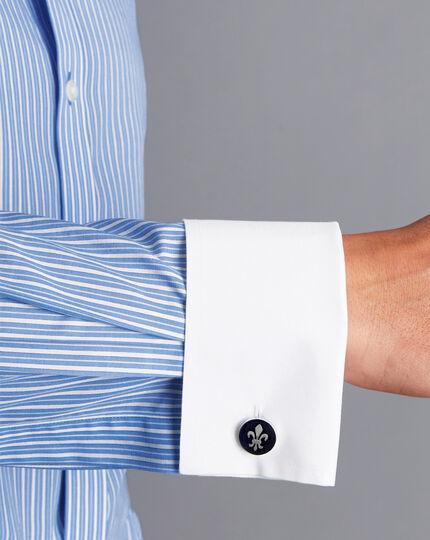 Spread Collar Non-Iron Stripe Winchester Shirt - Blue