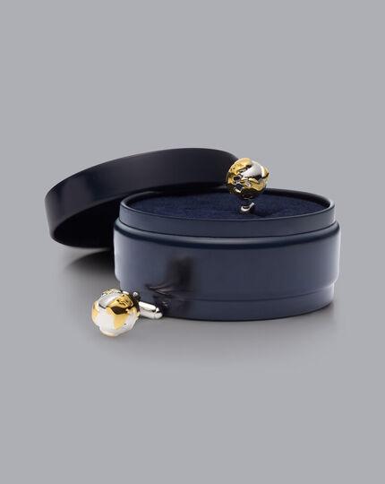 Globe Cufflinks - Gold & Silver