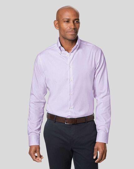 Button-Down Collar Non-Iron Check Shirt - Lilac