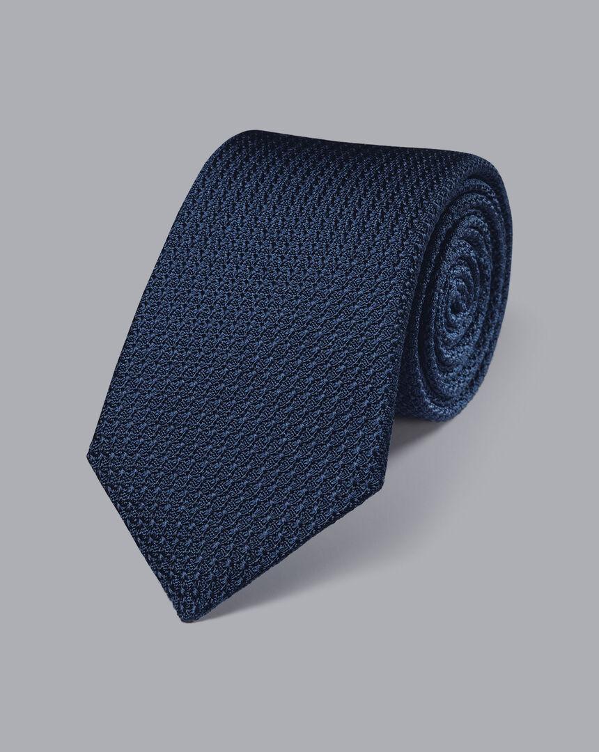 Silk Grenadine Italian Luxury Tie - Petrol Blue