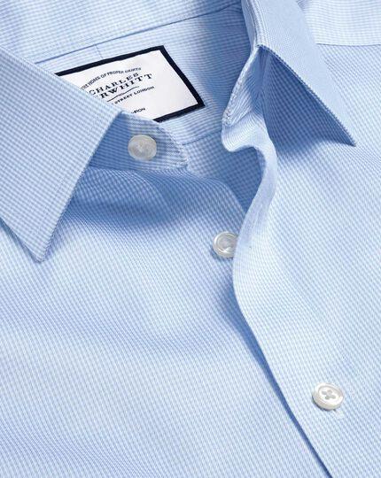 Non-Iron Puppytooth Shirt - Sky