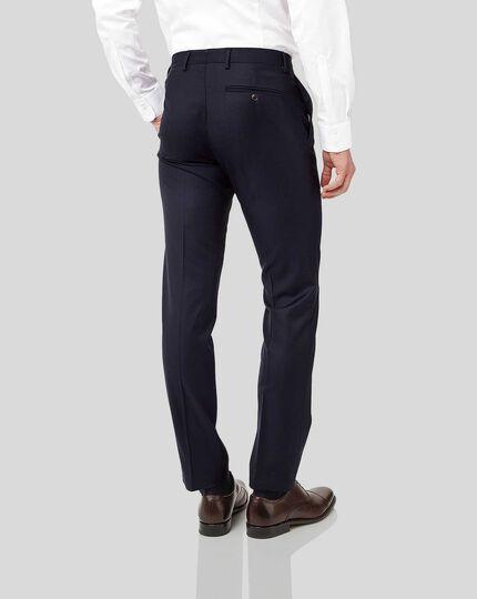 Italian Luxury Twill Suit Trousers - Navy