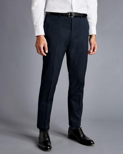 Italian Cotton Suit Pants - Navy
