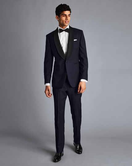 Shawl Collar Dinner Suit - Midnight Blue