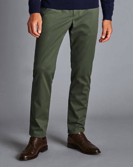 Ultimate Non-Iron Chinos - Forest Green