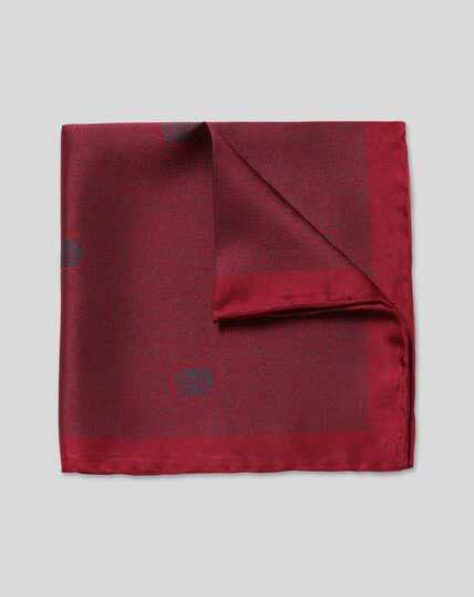 England Rugby Tonal Rose Pocket Square - Berry