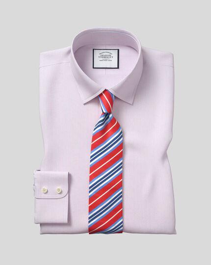 Classic Collar Poplin Stripe Shirt- Pink & Blue