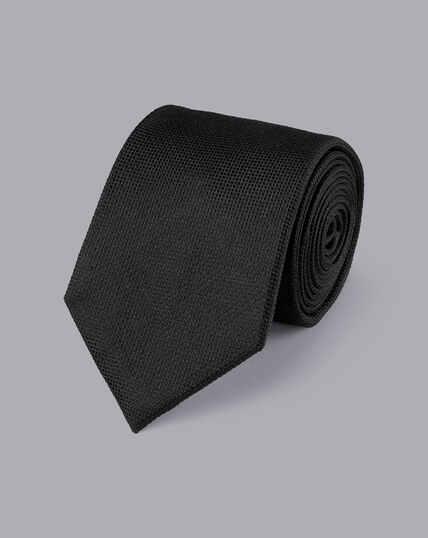 Stain Resistant Silk Tie - Black