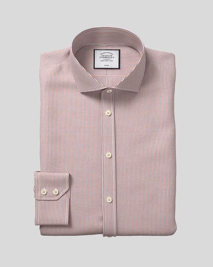 Cutaway Collar Non-Iron Dobby Shirt - Berry