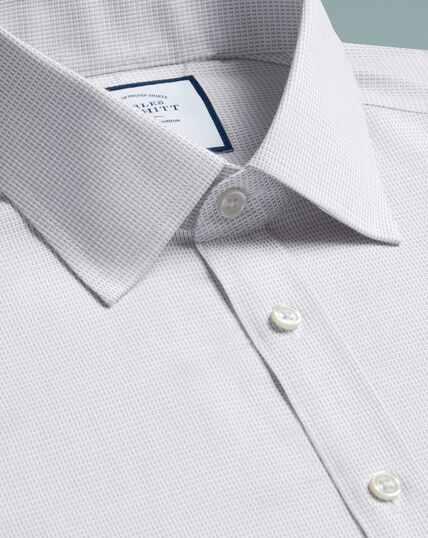 Bügelfreies Extra Slim Fit Hemd aus Dash-Gewebe in Grau