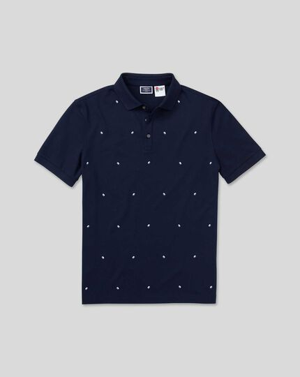 England Rugby Embroidered Pique Polo