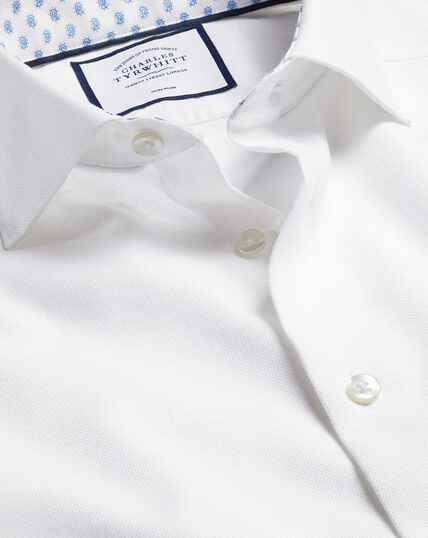 Smart Casual Collar Cotton Linen Shirt - White
