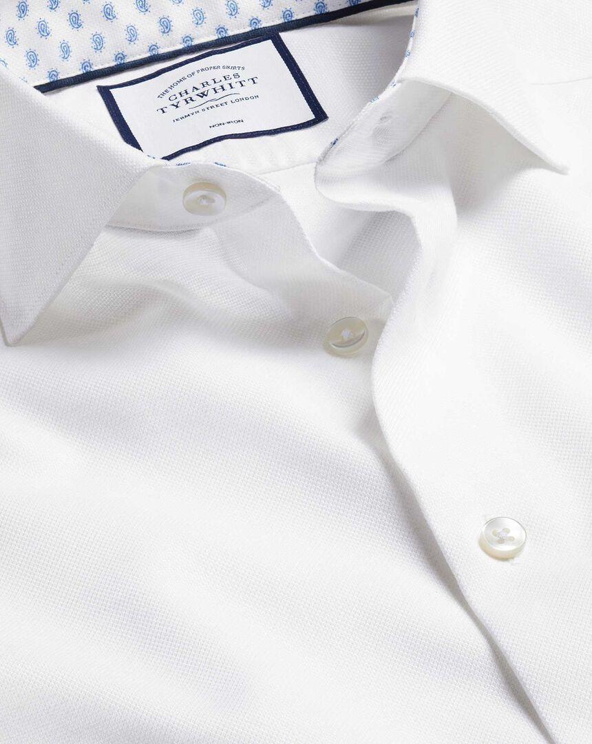 Business Casual Collar Cotton Linen Shirt - White