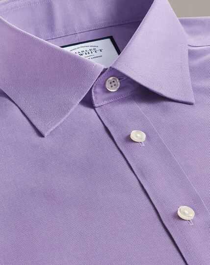 Non-Iron Twill Shirt - Lilac
