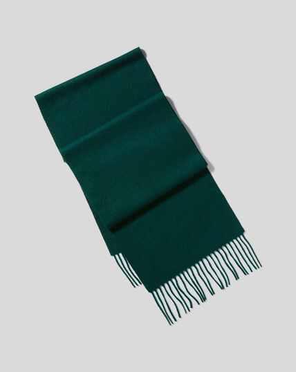 Cashmere Scarf - Dark Green