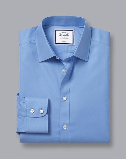 Non-Iron Twill Shirt - Cornflower Blue