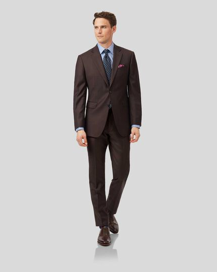 Twill Business Suit - Brown