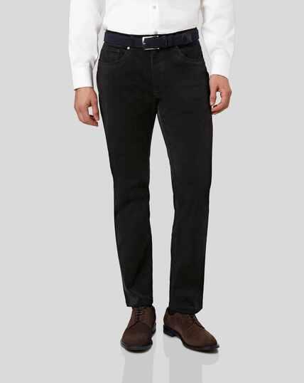 Cord 5-Pocket Trousers - Black