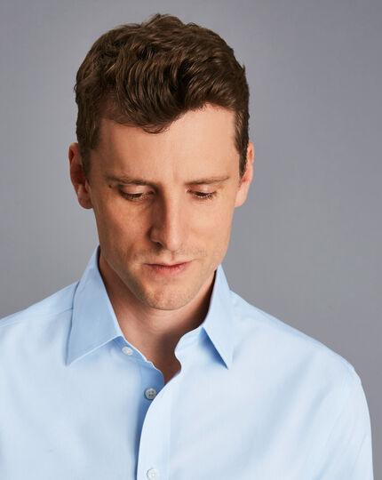 Non-Iron Poplin Shirt - Sky Blue