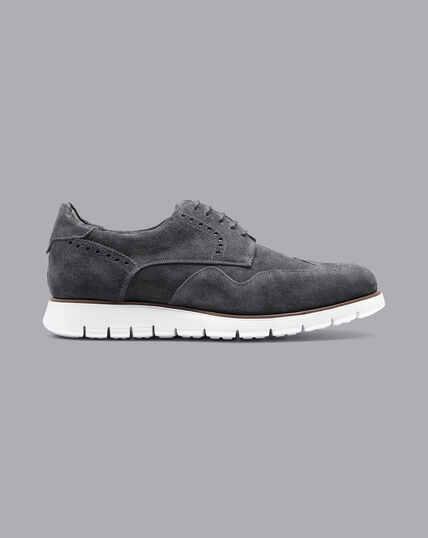 Hybrid-Sneaker aus Wildleder - Grau