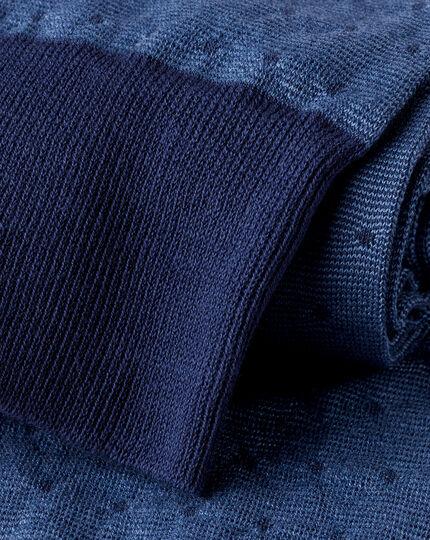 Jacquard-Socken mit Punkten - Blau