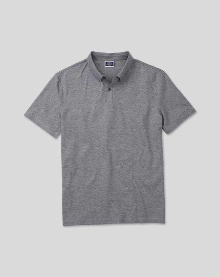 Cotton TENCEL™ Mix Jacquard Polo - Navy