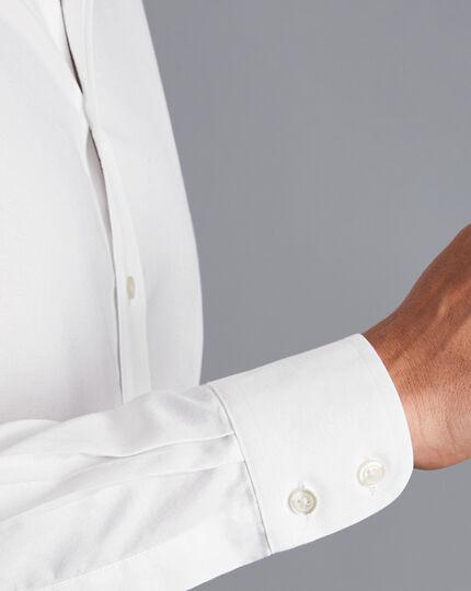 Bügelfreies Twill-Hemd - Weiß