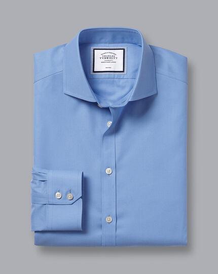 Cutaway Collar Non-Iron Twill Shirt - Cornflower Blue