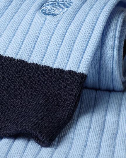 England Rugby Cotton Rib Socks - Light Blue