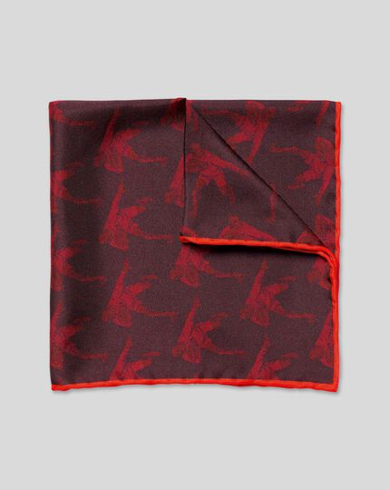 England Rugby Player Pocket Square - Berry