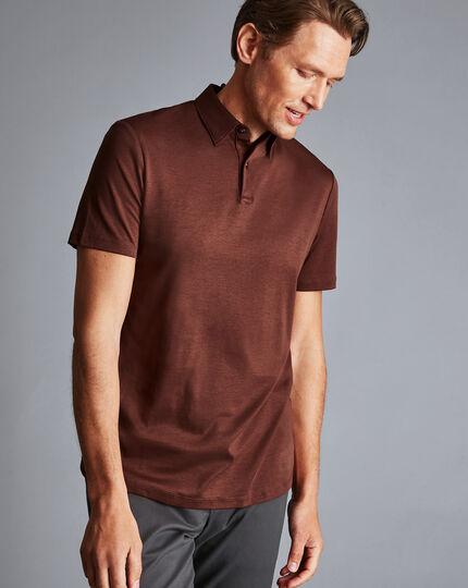 Smart Jersey Polo - Rust