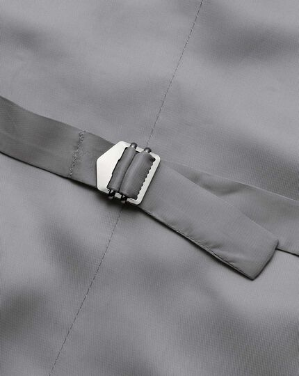 Light grey adjustable fit herringbone business suit vest