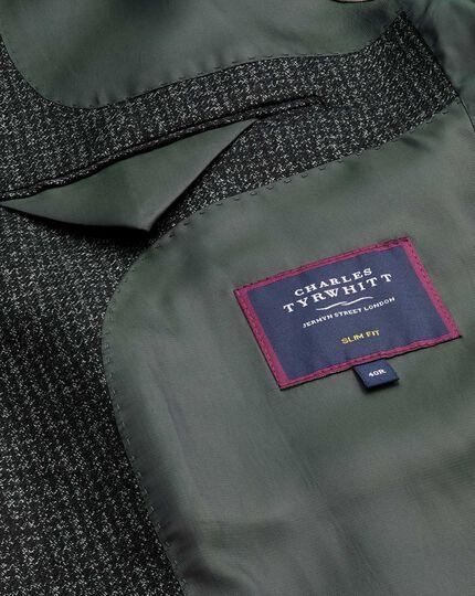 Mini Grid Check Jacket - Charcoal