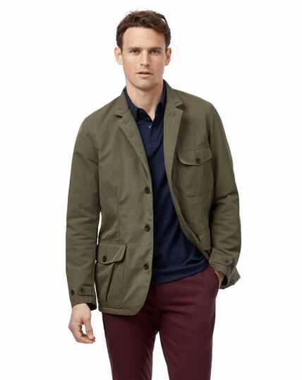 Green twill sports coat