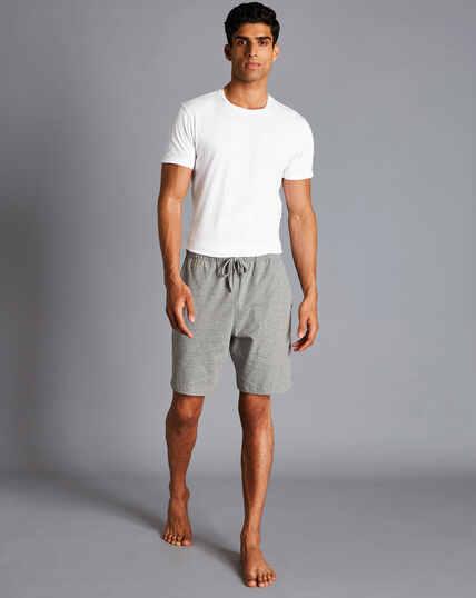 Jersey-Shorts aus Baumwolle - Silbergrau
