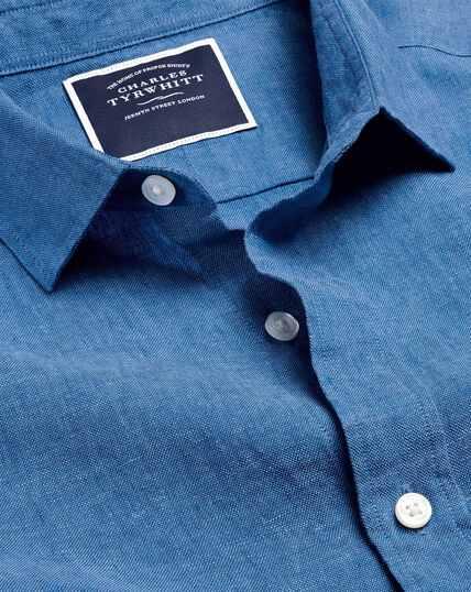 Linen Shirt - Bright Blue